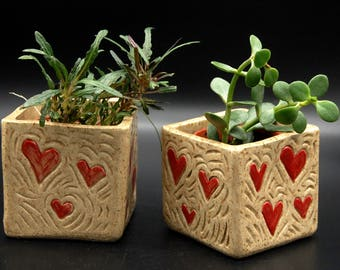 Heartbeat Square Planter