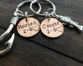 Custom Lucky Penny Keychain, Anniversary Gift, Girlfriend Gift, Boyfriend Gift, Husband Gift, Gift for Him, Gift for Her, Fishing, Fisherman