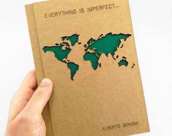 TRAVELERS Notebook, Customized Journal, Travel, Personalized Notebook, Personalized Journal, Custom Notebook, Custom Diary, Initial Notebook