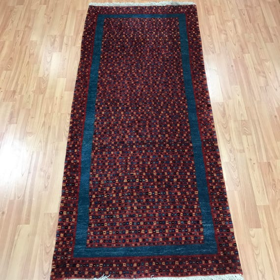 "2'9"" x 6'5"" Persian Gabbeh Floor Runner Oriental Rug - Hand Made - 100% Wool"
