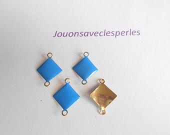 4 sequins blue 18 mm