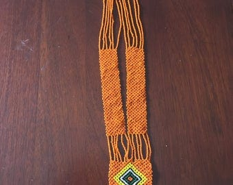 1970s vintage Native American beaded necklace