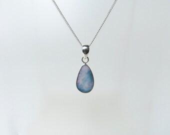 Boulder opal pendant Sterling silver