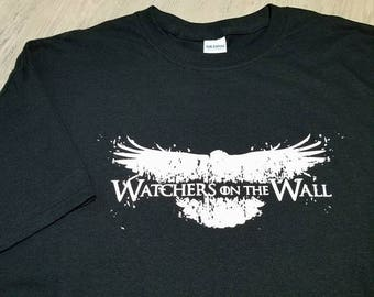 Game Of Thrones T shirt - Watchers On The Wall - Game Of Thrones - Jon Snow - GOT Tshirt - Game of Throne Tshirt - Watcher Of The Wall