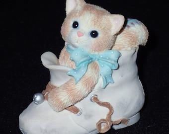 Enesco Calico Kittens 1997 Celebrate Every Baby Step Figurine #314528