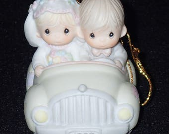 Precious Moments 1989 Our First Christmas Together Ornament #521558