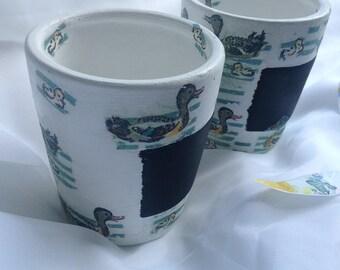 Herb Pot - Plant Pot- Duck Pot- Chalkboard Pot - Blackboard Pot - Flower Pot - Decorative Pot
