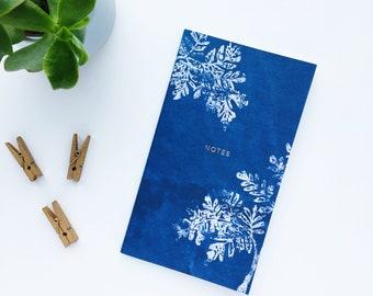 Illustrated leaf notebook