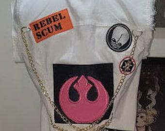 Punk Princess Leia Vest inspired by Julian Callos art STAR WARS