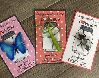 Kids Valentine Card, Valentines for Kids, Class Valentine Kid Valentine valentine Class treat Bug Valentine's Day Card valentines LOVE BUG