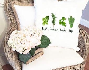 Fresh Herb Gardeners Pillow Cover