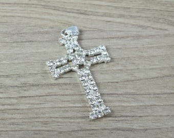 12 PCs Rhinestone Crosses Size 41x24mm First communion Baptism Favor boxes or Invitations