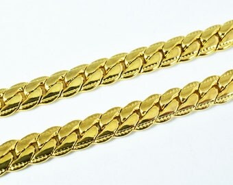 "Gold Filled Chain 18KT Gold Filled Size 19.4"" Long 6mm Width Item #CG198"