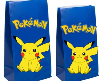 Pokemon Party Favor gift Bags~ Pokemon Birthday Party Inspired Decorations & Decor