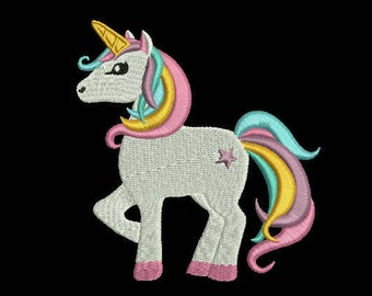 unicorn embroidery machine design file 3 sizes
