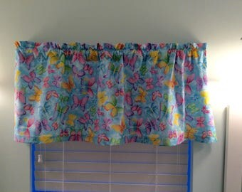 Butterfly Window Valance-Butterfly Decor-Butterfly Curtains-Blue Valance-Blue Curtains-Butterflies-Nature Valance-Nature Curtains