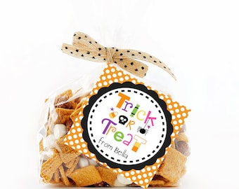 Halloween Favor Tags, Trick or Treat Tag, Printable Personalized Halloween Tags, Halloween Gift Tags, Tags, Treat Tag, Favor Tags
