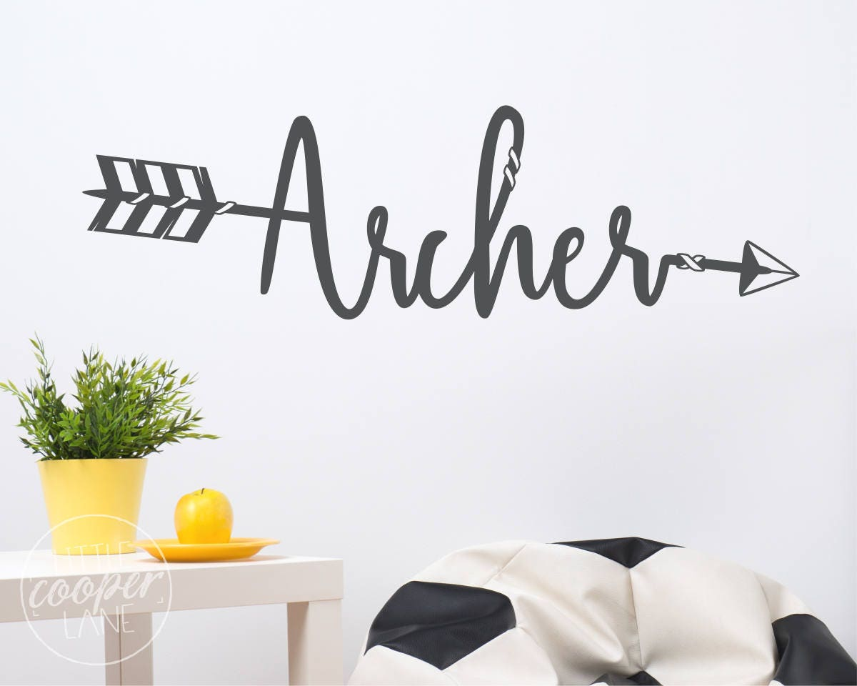 CUSTOM Boho Arrow Name Wall Decal Large Personalised Vinyl - Custom vinyl decals utah