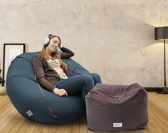 Adult Bean Bag Cover Large Lounge Chair