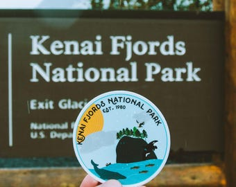 Kenai Fjords National Park Vinyl Sticker