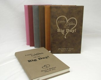 Personalized Leatherette Wedding Journal/Planner