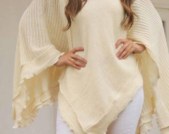 Womens 100% natural alpaca wool shawl