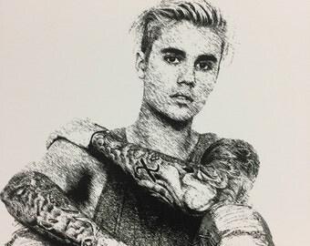 Justin Bieber, superstar, famous, unique, canvas, art, print