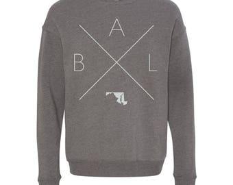 Baltimore Sweatshirt - BAL Home Sweater, Maryland Off Shoulder Sweatshirt