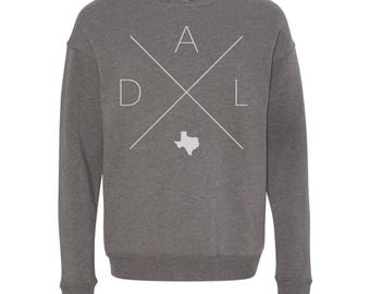 Dallas Sweatshirt - DAL Home Sweater, Texas Off Shoulder Sweatshirt