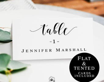 Wedding Name Cards Template Rustic Table Card DIY Place Printable
