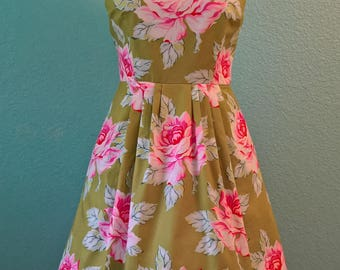 Made-to-Order Retro Fit and Flare Dress