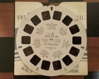 Sawyer's 1946 View-Master 3D Reel Goldilocks and the Three Bears, brought to you by UsefulRetro!