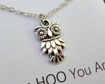 Best Friend Gift-Owl necklace-Owl Jewelry-Love HOO You Are-Friendship necklace-Sister Gift-Gift for Her-Encouragement Gift-siblings gifts