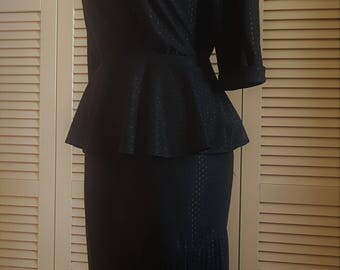 Party Dress, Black '70s, '40s Inspiration