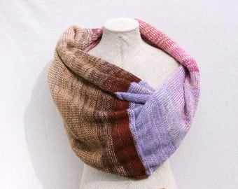 Boho autumn scarf / Evening shrug /  Cozy mohair wrap for winter / Knit infinity shawl for fall - Hydrangea 1