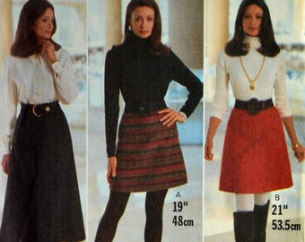Uncut 1990s Butterick Vintage Sewing Pattern 3567, Size 12-14-16; Misses' Skirt