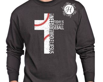 All i need is Baseball and a whole lot of Jesus  cross distressed  SVG DFX PNG   Baseball Christian svg, Commercial license, Scripture svg