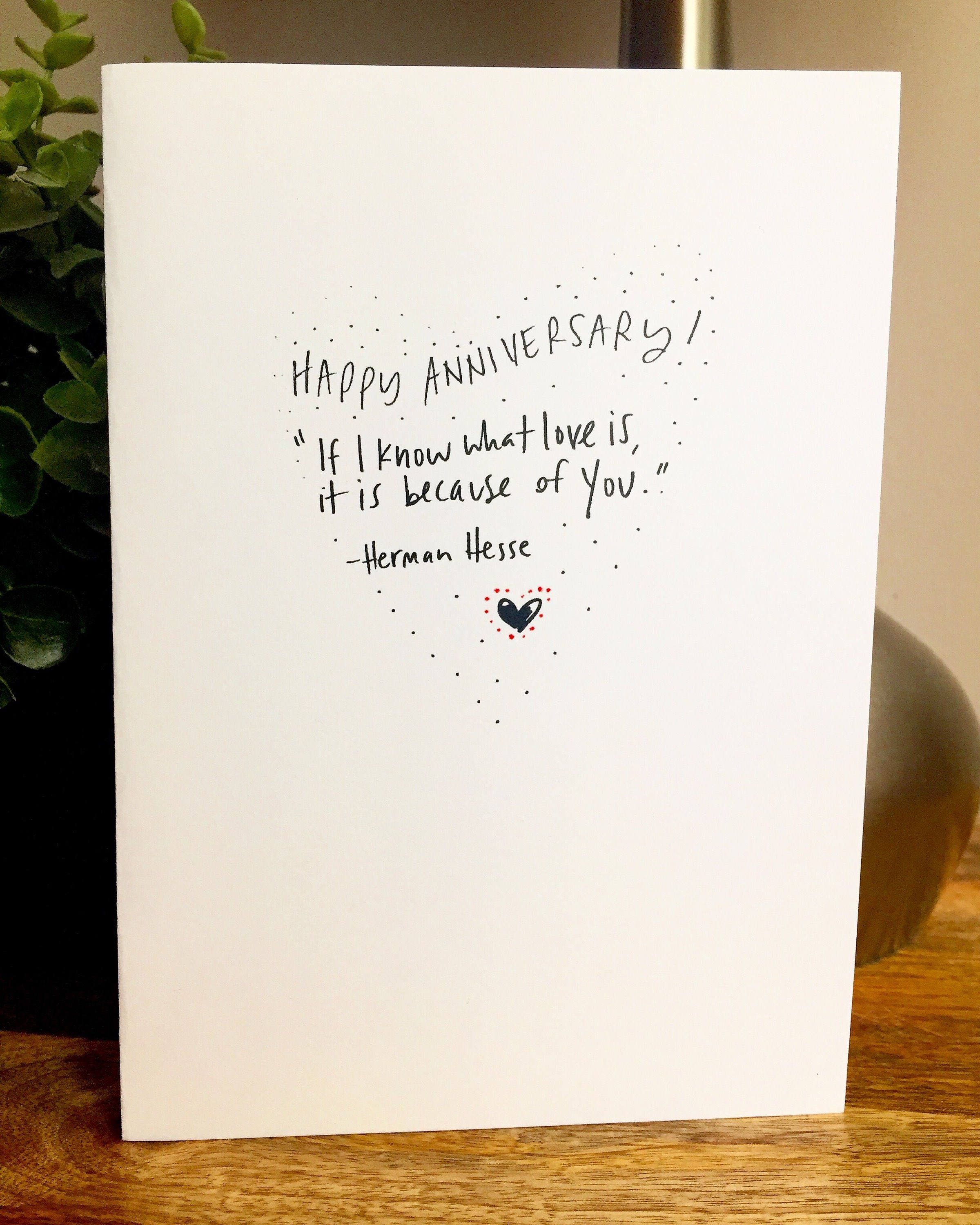 1 Year 12 Months 52 Weeks 365 Days Quotes: I Know What Love Is, One Year Anniversary Card For Her