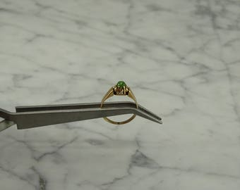 10K Yellow Gold / Jade Ring (size 5.25)
