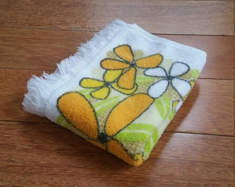 Retro Flower Power Floral Kitchen Hand Towel