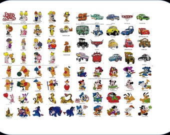 Cars, Pooh, Precious Moments, & Disney Babies Embroidery Files