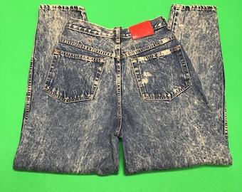 Vintage Acid Wash Jeans - Hollywood Era - 90s Acid Wash Jeans - Size 34 W 32 L - 90s Jeans - 80s Acid Wash Jeans - Grunge Jeans - Canada