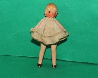 Vintage Dolls House German Bisque Girl Doll 1930's