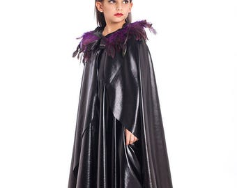 Maleficent Cape, Halloween Costumes, Kids Costumes, Girls Halloween Costume, Maleficent Costume, Girls Toddler Costume.