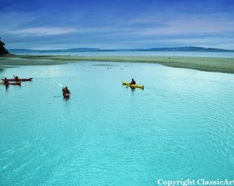 Beach Photography, Beach Print, Landscape Print, Beach Photo, Digital Download, Beach Art, Beach Decor, Kayak, Kayaking