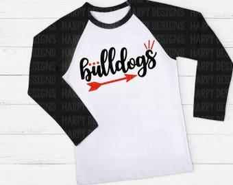Bulldogs SVG, Bulldogs Football SVG, Football SVG, Football T-shirt Design, Cricut Cut Files, Silhouette Cut Files