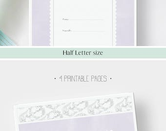 MONTHLY PROJECT pages · 4 printable planner pages · Half Letter · Schedule · To do list · Project review · Home project