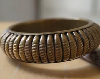 brass bracelet vintage bangle seventies bracelet tribal bracelet