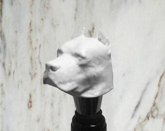 Pitbull Bottle Stopper, White