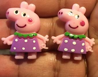 Pink Pig Earrings    AM28